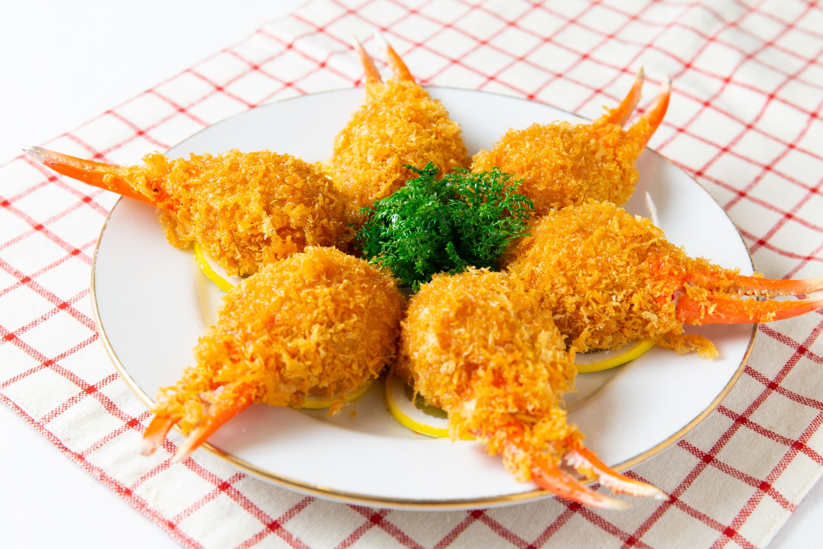 食品サンプルのカニ爪フライ