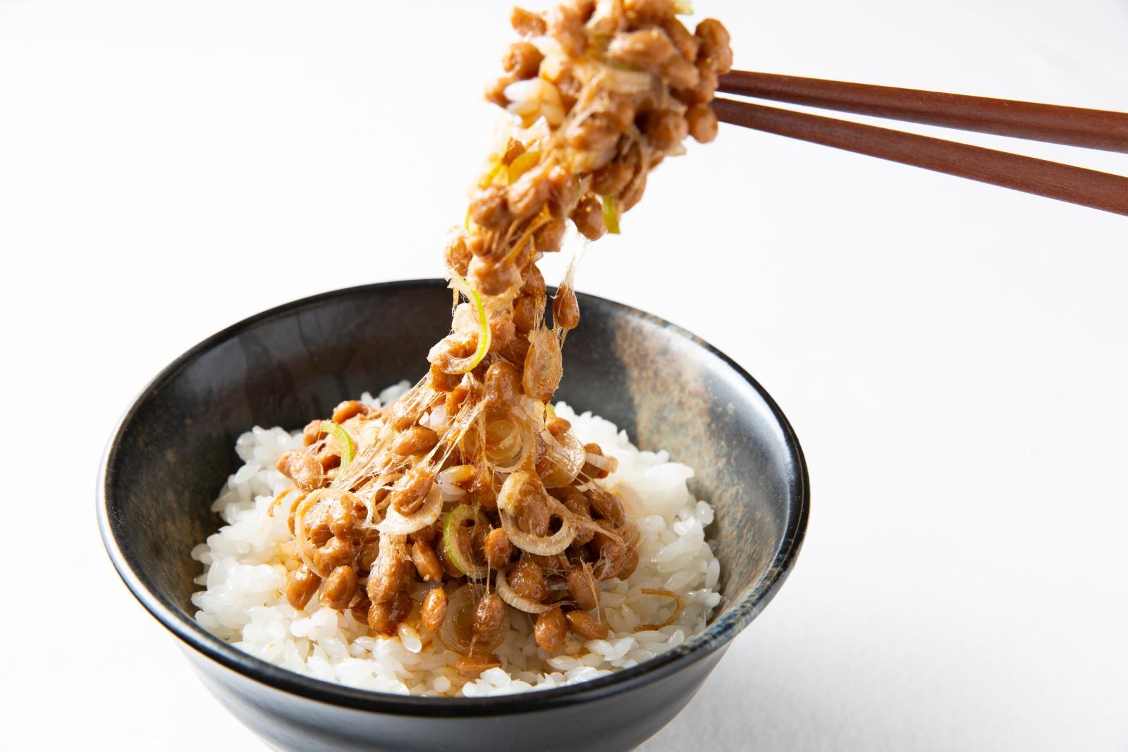 食品サンプルの納豆ごはん