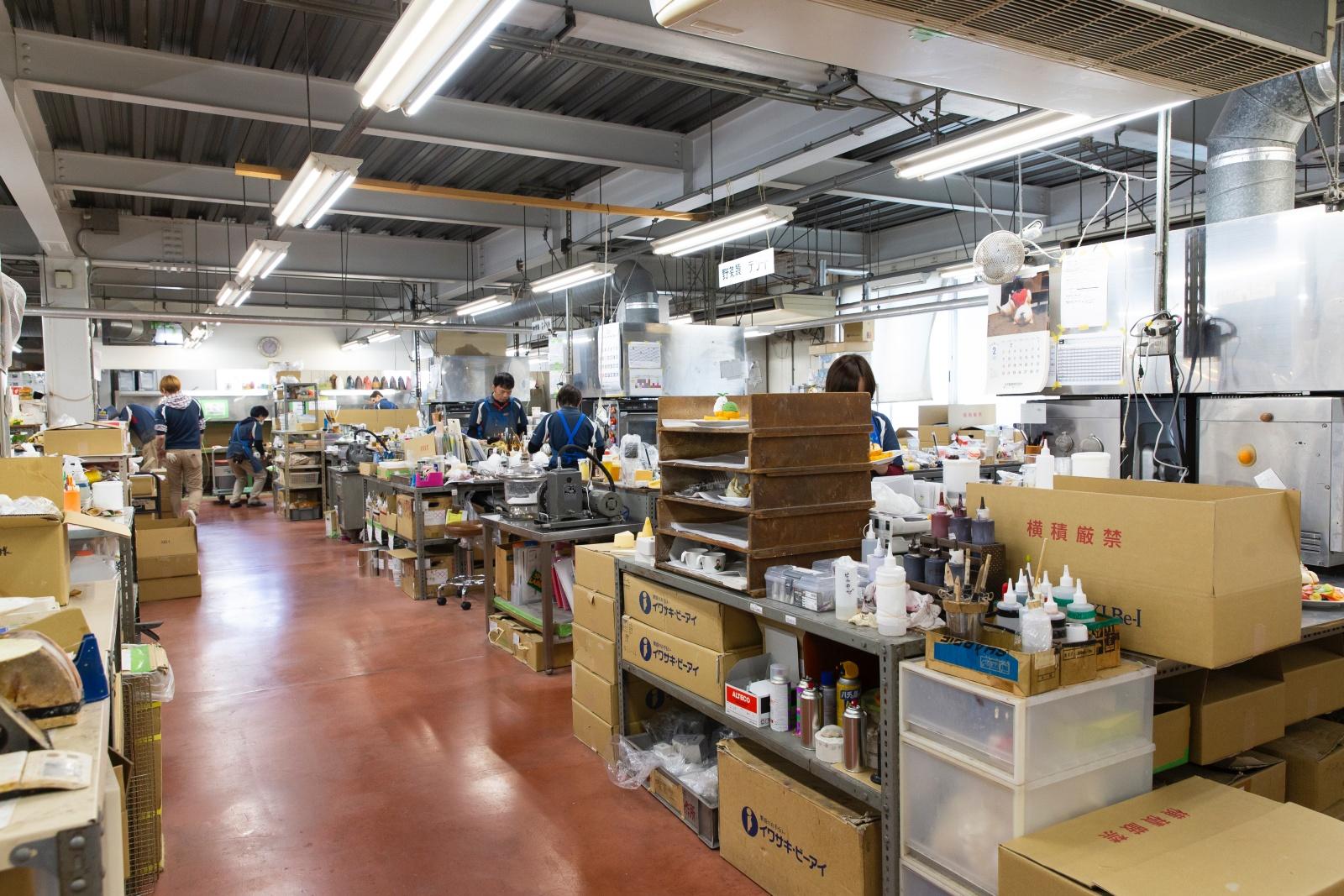 食品サンプル工場内部