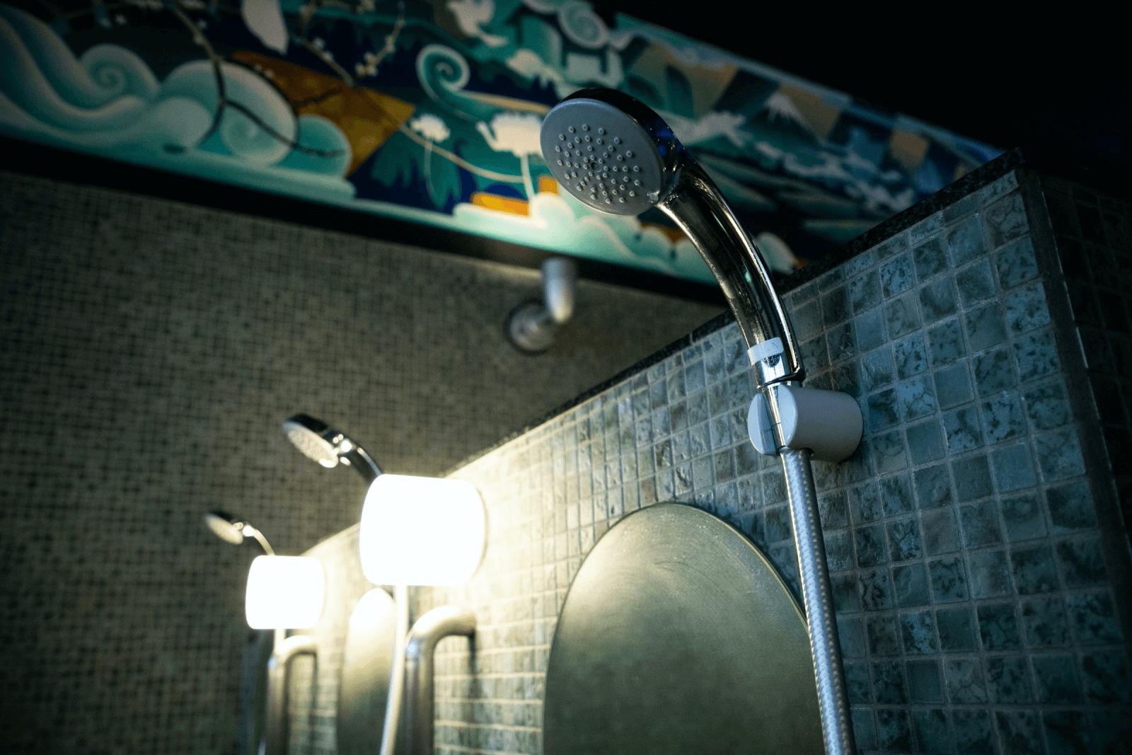 女湯に設置されたハンドシャワー